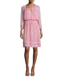 Diane von Furstenberg | Multicolor Parry Printed Silk Blouson Dress | Lyst