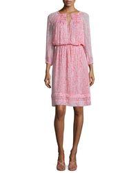 Diane von Furstenberg - Multicolor Parry Printed Silk Blouson Dress - Lyst