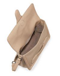 Bottega Veneta - Brown Small Half-Flap Shoulder Bag - Lyst