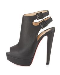 Christian Louboutin - Black Strapagada Platform 150mm Red Sole Bootie - Lyst