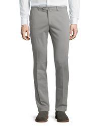 Loro Piana   Gray Soft Stretch-cotton Slim-fit Pants for Men   Lyst