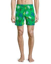 Vilebrequin | Green Moorea Turtle-print Swim Trunks for Men | Lyst