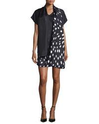 Shamask | Black Degrade Dot-print Serape Dress | Lyst