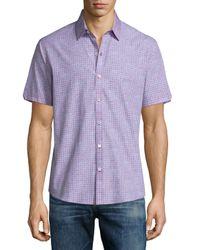 Zachary Prell - Purple Manning Pin-dot Short-sleeve Sport Shirt for Men - Lyst