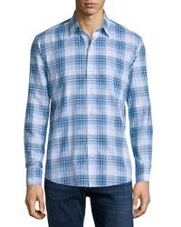 Zachary Prell - Blue Dd Plaid Long-sleeve Sport Shirt for Men - Lyst