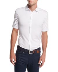 Peter Millar | White Collection Perfect Piqué Short-sleeve Shirt for Men | Lyst