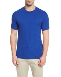 Vilebrequin - Blue Classic Crewneck Piqué T-shirt for Men - Lyst