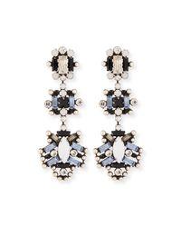 DANNIJO - Metallic Karlotta Crystal Statement Earrings - Lyst