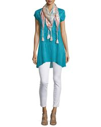 Johnny Was - Black Butterfly Flo Cap-sleeve Tunic - Lyst