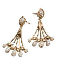 Lulu Frost - Metallic Alesia Pearl Drop Earrings - Lyst