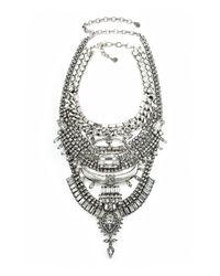 DYLANLEX - Metallic Skyler Crystal Statement Necklace - Lyst