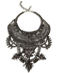 DYLANLEX - Metallic Ryker Crystal Statement Necklace - Lyst