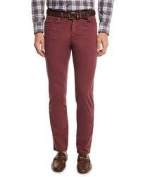 Peter Millar - Red Alpine Five-pocket Twill Pants for Men - Lyst