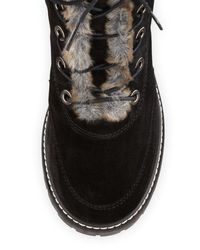 Stuart Weitzman | Black Forest Shearling and Suede Ankle Boots | Lyst