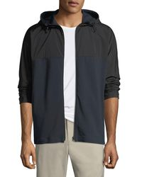 Theory - Black Men's Caliber Terry Combo Tech Hoodie Jacket for Men - Lyst