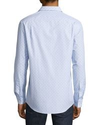 Michael Kors - Blue Checked Sportshirt for Men - Lyst