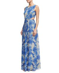 Nicole Miller - Blue Queen Of The Night Printed Gown - Lyst