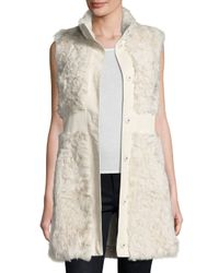 Pologeorgis - White Lamb Leather-trim Vest - Lyst