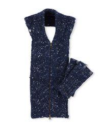 Veronica Beard - Blue Jasmine Melange Sweater Dickey - Lyst