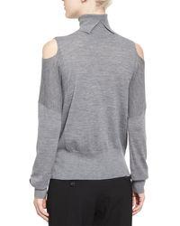 Vince - Black Cold-shoulder Turtleneck Sweater - Lyst