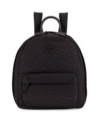 Tory Burch | Black Ella Quilted Nylon Backpack | Lyst