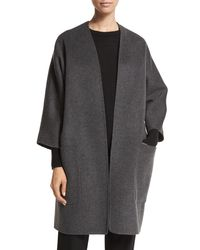 c0f8c9298f3a3 Lyst - Vince Reversible Wool-cashmere Cardigan Coat in Gray