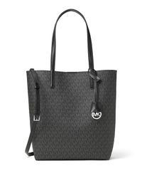 MICHAEL Michael Kors | Gray Hayley Large North-south Logo-print Tote Bag | Lyst