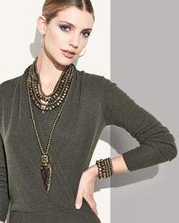 Nest - Metallic Long Pyrite Necklace W/ Druzy & Agate Arrowhead Pendant - Lyst