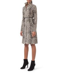 Akris - Multicolor Belted Cheetah-print Shirtdress - Lyst