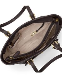 MICHAEL Michael Kors - Brown Jet Set Travel Medium Saffiano Tote Bag - Lyst