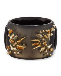 Alexis Bittar - Metallic Studded Hinge Cuff Bracelet - Lyst