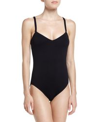 Seafolly | Black Goddess V-neck One-piece Swimsuit | Lyst