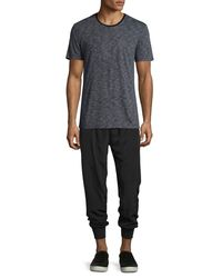 ATM - Black Faille Pleat-front Track Pants for Men - Lyst