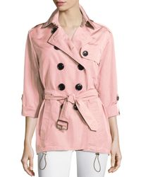 Burberry Brit - Pink Knightsdale Hooded Trenchcoat - Lyst