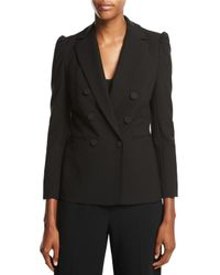 Rebecca Taylor | Black Double-breasted Suiting Blazer | Lyst