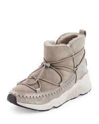 Ash | Gray Mitsouko Shearling Sneaker Bootie | Lyst