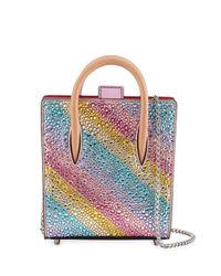 Christian Louboutin | Multicolor Paloma Nano Rainbow Tote Bag | Lyst