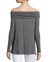 Velvet - Gray Angelica Off-the-shoulder Top - Lyst