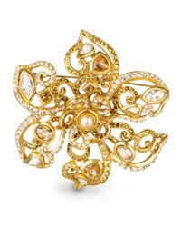 Jay Strongwater | Metallic Large Flower Scroll Pin | Lyst