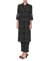 Dolce & Gabbana - Black Polka-dot Silk Pull-on Pants - Lyst