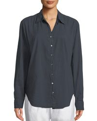 Xirena - Gray Beau Poplin Lounge Shirt - Lyst