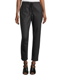 Eileen Fisher   Gray Stretch-flannel Twill Slouch Pants   Lyst