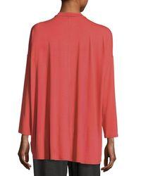 Eileen Fisher   Black Mock-neck Jersey Tunic   Lyst