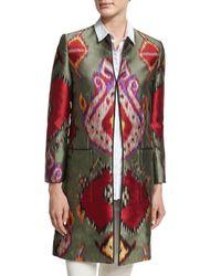 Etro - Green Ikat-print Jacket Topper - Lyst