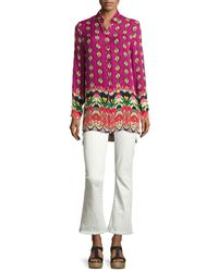 Etro - Multicolor Voile Ikat-print Silk Tunic - Lyst