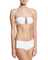 Michael Kors | White Ring-chain Bandeau Two-piece Swimsuit | Lyst
