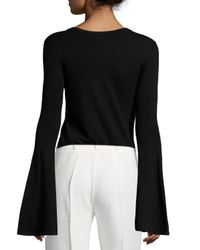 MILLY - Black Bell-sleeve Pullover Top - Lyst