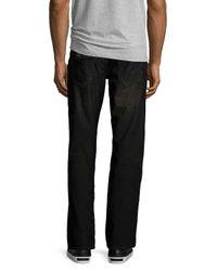 True Religion | Black Ricky Flap-pocket Two-tone Corduroy Jeans for Men | Lyst