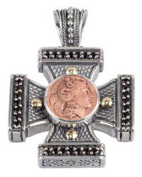 Konstantino   Metallic Men's Aeolus Athena Cross Pendant W/spinel for Men   Lyst