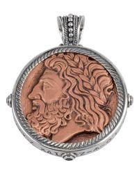 Konstantino | Multicolor Men's Sterling Silver & Copper Zeus Pendant W/spinel Insets for Men | Lyst
